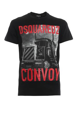 T-shirt in jersey con stampa DSquared2 Convoy S74GD0647S22427900 DSQUARED2 | 8 | S74GD0647S22427900