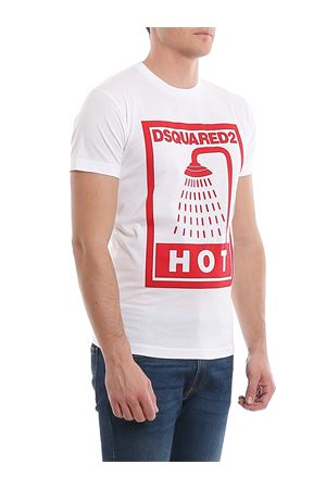 T-shirt in jersey con stampa doccia S74GD0651S22427100 DSQUARED2 | 8 | S74GD0651S22427100