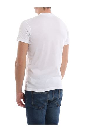 Printed white jersey cotton T-shirt DSQUARED2 | 8 | S74GD0654S22427100