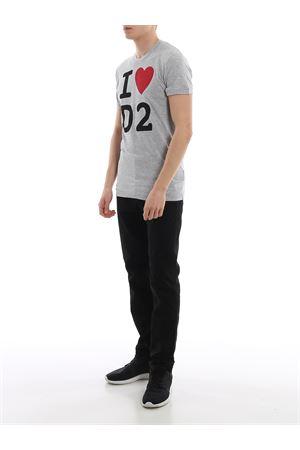 T-shirt melange con stampa S74GD0670S22146857M DSQUARED2 | 8 | S74GD0670S22146857M