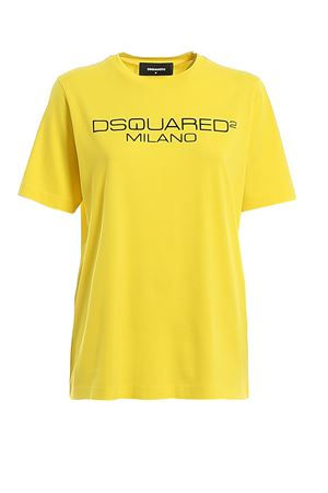 T-shirt in jersey stampa logo lettering S75GD0082S22844174 DSQUARED2 | 8 | S75GD0082S22844174