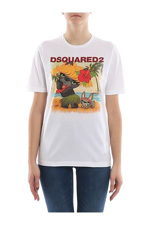 Logo printed cotton jersey T-shirt DSQUARED2 | 8 | S75GD0097S22427100