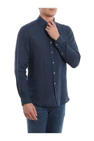 Camicia blu in lino NCMA140259THTKU808 FAY | 6 | NCMA140259THTKU808