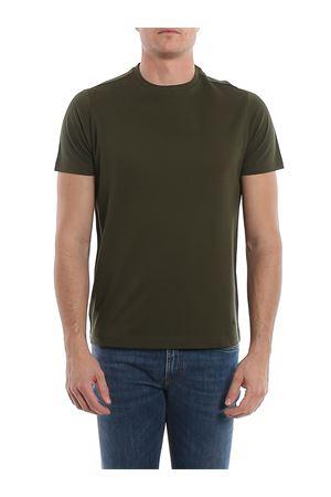 T-shirt verde con ricamo logo NPMB3401310R0WV616 FAY | 8 | NPMB3401310ROWV616