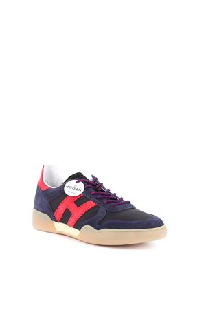 H357 SNEAKERS IN BLUE AND RED HOGAN | 120000001 | HXM3570AC40N3I50BV