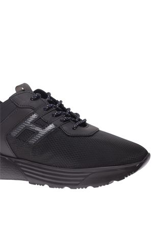 ACTIVE ONE BLACK MESH AND LEATHER SNEAKERS HOGAN | 5032238 | HXM4430BU70N0TB999