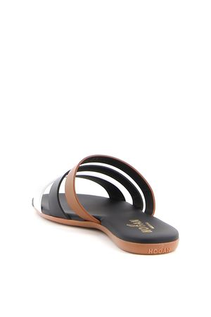 TRIPLE BAND LEATHER SANDALS HOGAN | 5032258 | HXW1330CL70IYG0QZJ