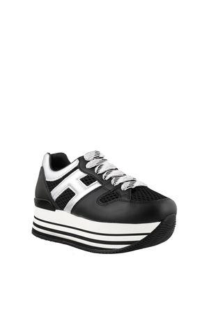 Sneakers Maxi H222 Nero e Argento HXW2830U352N8C0353 HOGAN | 5032238 | HXW2830U352N8C0353