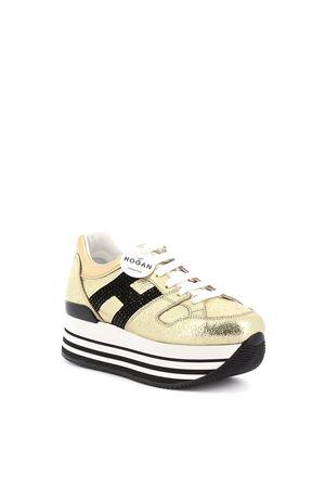 Sneakers Maxi H222 Oro e Nero HXW2830Y411NF71805 HOGAN | 5032238 | HXW2830Y411NF71805