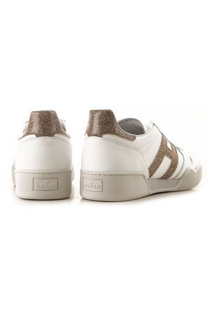 Sneakers H357 White and Platinum HOGAN | 5032238 | HXW3570AC40N1Q1556