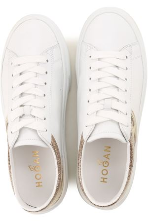 Sneakers H365 White and Gold HOGAN | 5032238 | HXW3650J970N5Q0PQY