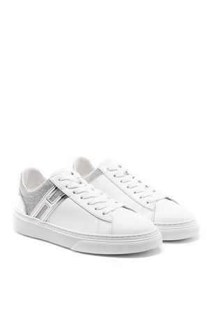 Sneakers H365 Bianco e Argento HXW3650J970NQC0351 HOGAN | 5032238 | HXW3650J970NQC0351