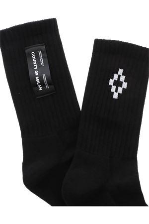 LOGO SOCKS IN BLACK MARCELO BURLON   33   CMRA008R20FAB0041001