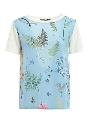 T-shirt in crêpe de Chine di seta e jersey 597104076005 MAX MARA | 8 | 597104076005