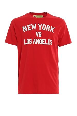 T-SHIRT IN COTONE NEW YORK VS LOS ANGELES TSHIRTMANNYLA41 MC2 SAINT BARTH | 8 | TSHIRTMANNYLA41