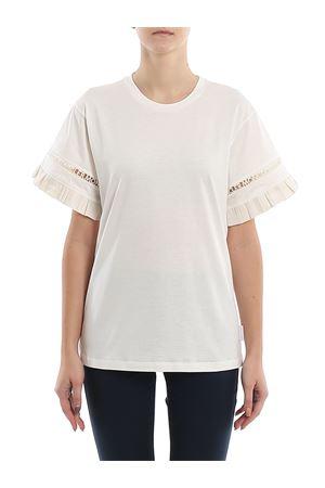 T-shirt con logo lettering cut-out 8C71400V8102033 MONCLER | 8 | 8C71400V8102033