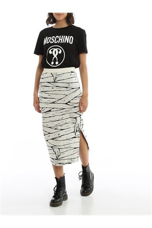 SIDE VENT COTTON PENCIL SKIRT MOSCHINO | 15 | 0181502A1003