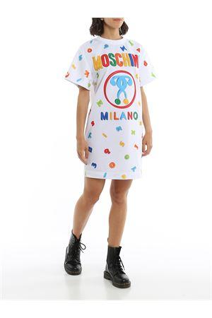 T-SHIRT STYLE LOGO DRESS MOSCHINO | 11 | 0444554A1001
