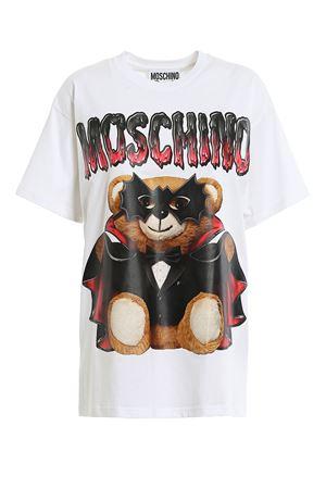T-SHIRT BIANCA CON TEDDY BEAR MASCHERATO 0711540V1001 MOSCHINO | 8 | 0711540V1001