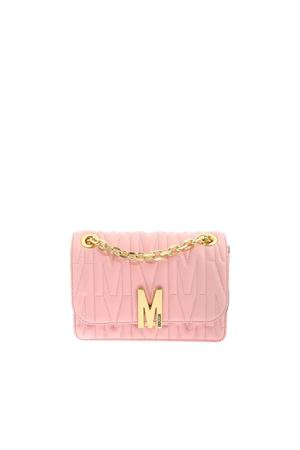 M Quilted pink leather shoulder bag MOSCHINO | 70000001 | 74518002A242