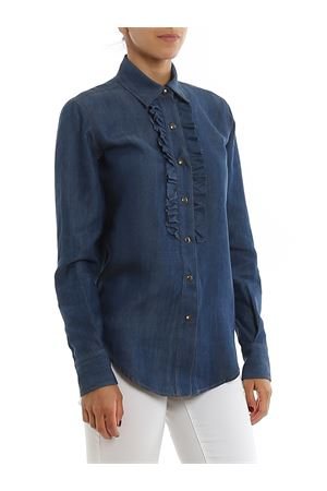 RUCHED DENIM SHIRT PAOLO FIORILLO CAPRI | 6 | 27353078JEANS