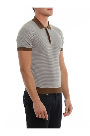 RIBBED EDGES STRIPED COTTON POLO PAOLO FIORILLO CAPRI | 2 | 5717020620155