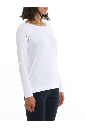 WHITE COTTON RIBBED T-SHIRT PAOLO FIORILLO CAPRI | 7 | 6020280303001