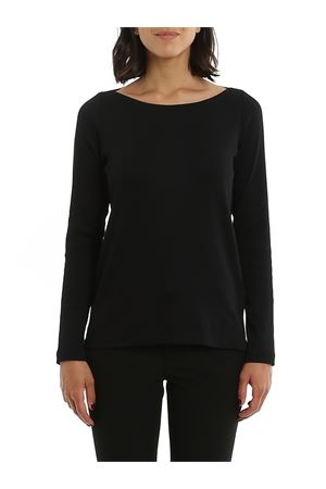 BLACK COTTON RIBBED T-SHIRT PAOLO FIORILLO CAPRI | 7 | 6020280303099