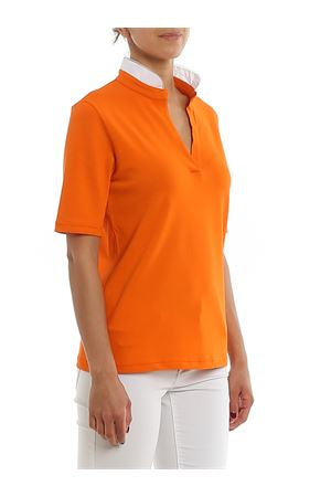 POLO IN PIQUÉ ARANCIO CON COLLETTO DECORATO 6021082717341 PAOLO FIORILLO CAPRI | 2 | 6021082717341