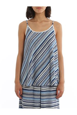 BLUE STRIPED KNITTED TOP PAOLO FIORILLO CAPRI | 46 | 6023888704202