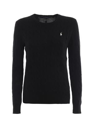 Black twist knit cotton sweater POLO RALPH LAUREN | -108764232 | 211525764002