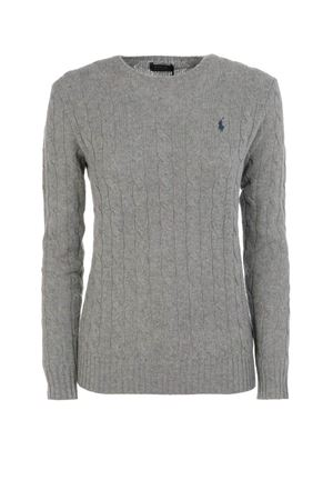 Grey twist knit cotton sweater POLO RALPH LAUREN | 7 | 211525764009