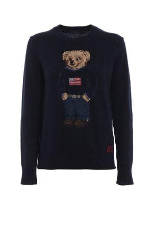 Maglione in cotone e lino con intarsio orso 211698558001 POLO RALPH LAUREN | 7 | 211698558001