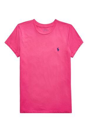 T-shirt fuxia in jersey con ricamo logo 211734144022 POLO RALPH LAUREN | 8 | 211734144022
