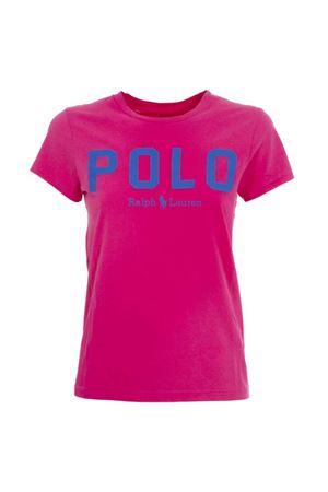 T-Shirt rosa con logo blu elettrico 211780287005 POLO RALPH LAUREN | 8 | 211780287005
