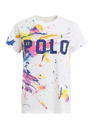 T-shirt in jersey con macchie di pittura 211780289001 POLO RALPH LAUREN   8   211780289001