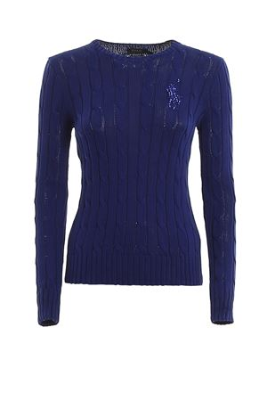 Twist Pima cotton crew neck sweater POLO RALPH LAUREN | 7 | 211780365003