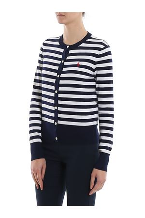 Logo embroidery striped cardigan POLO RALPH LAUREN | 39 | 211780396001