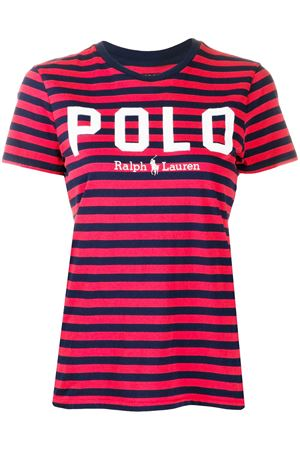 T-shirt a righe con logo 211782939002 POLO RALPH LAUREN | 8 | 211782939002