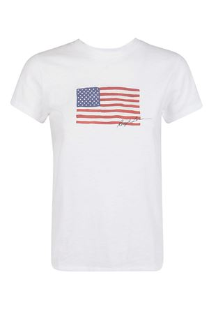 Crew neck T-shirt with Flag print POLO RALPH LAUREN | 8 | 211782940001