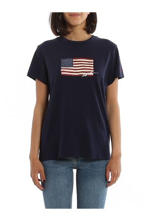 Crew neck T-shirt with Flag print POLO RALPH LAUREN | 8 | 211782940002