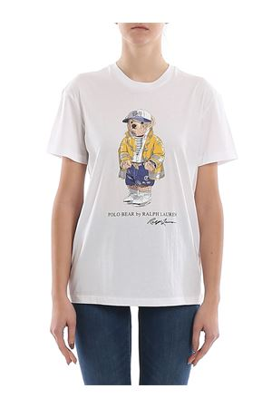 T-shirt in jersey con stampa Polo Bear 211783908001 POLO RALPH LAUREN | 8 | 211783908001