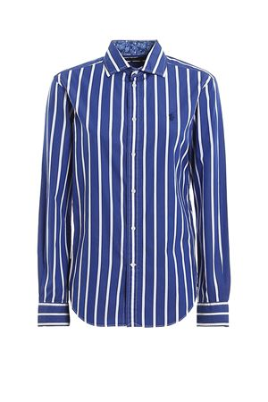 Logo embroidery striped poplin shirt POLO RALPH LAUREN | 6 | 211784161001