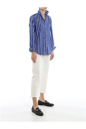 Camicia in popeline a righe con ricamo logo 211784161001 POLO RALPH LAUREN | 6 | 211784161001