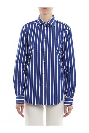 Logo embroidery striped poplin shirt POLO RALPH LAUREN | 6 | 211784161001