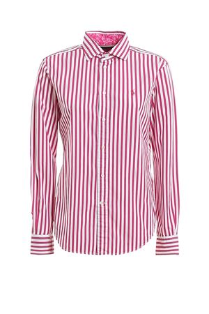 Logo embroidery striped poplin shirt POLO RALPH LAUREN | 6 | 211784161002