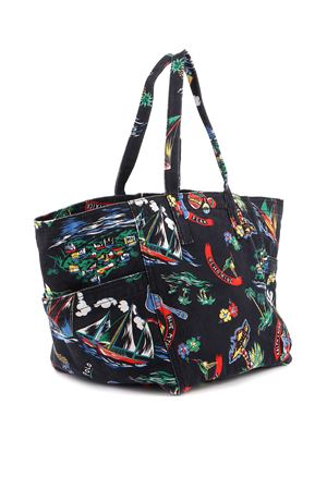 PRINTED CANVAS SHOPPING BAG POLO RALPH LAUREN | 5032266 | 428805477001