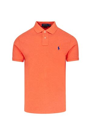 Polo slim fit in cotone piqué arancio 710536856210 POLO RALPH LAUREN | 2 | 710536856210