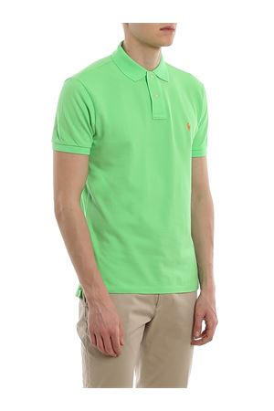 Green slim fit cotton pique polo POLO RALPH LAUREN | 2 | 710536856212