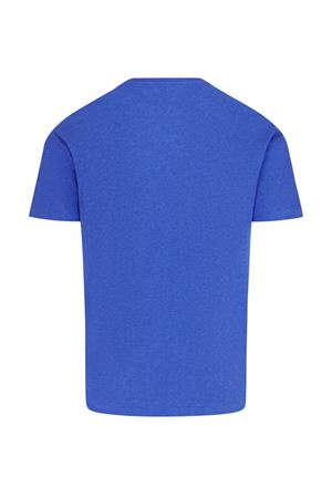 T-shirt blu con logo ricamato 710671438126 POLO RALPH LAUREN | 8 | 710671438126